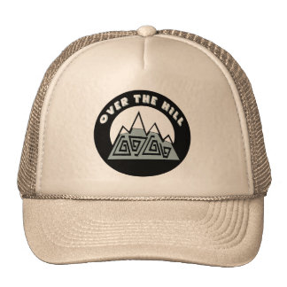 Over The Hill 50th Birthday Gifts Trucker Hat
