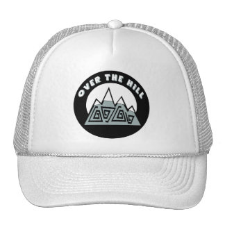 Over The Hill 50th Birthday Gifts Mesh Hat