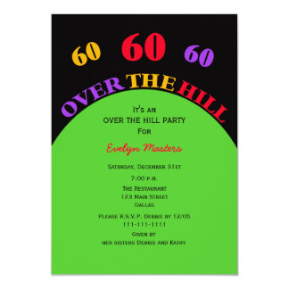 Over the Hill 60th Birthday Party Invitation