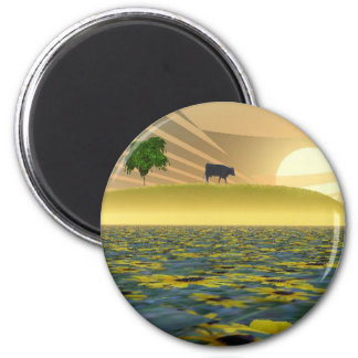 Over the hill 6 cm round magnet