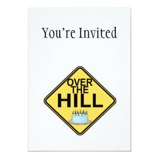 Over The Hill Birthday 13 Cm X 18 Cm Invitation Card