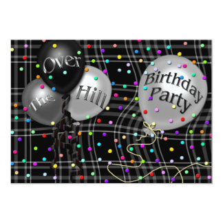 OVER THE HILL - BIRTHDAY PART INVITATION