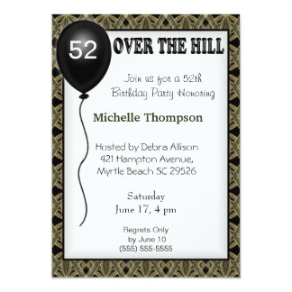 Over the Hill Customizable Age Birthday Invitation