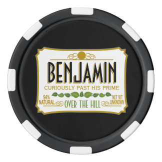 Over the Hill Funny Birthday Party Poker Chips