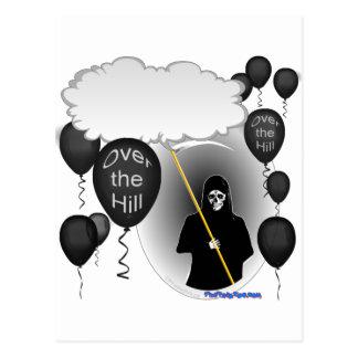 Over the Hill Grim Reaper birthday Postcard