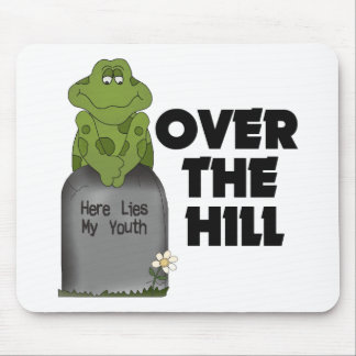 Over The Hill Tombstone Mouse Pad