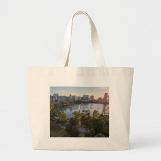 Over The Lake Large Tote Bag