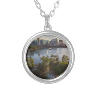 Over The Lake Silver Plated Necklace