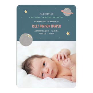 Browse Zazzle Baby Announcement Cards and customise with your own text, photos or designs.