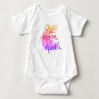 Over the Moon for Auntie (colour) Baby Bodysuit