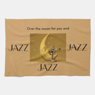 Over the moon for Jazz Tea Towel