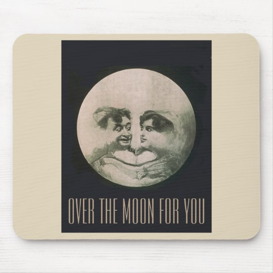 Over the Moon for You Mouse Pad