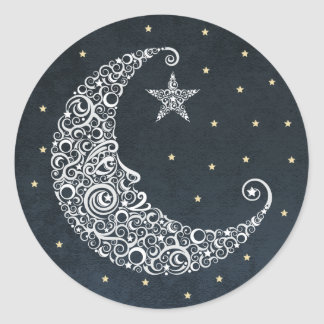 Over the Moon Sticker