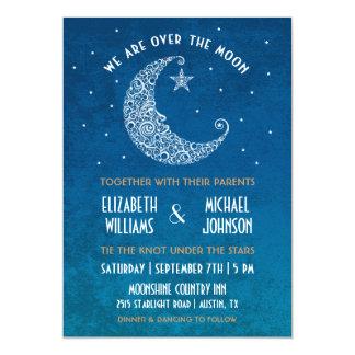 Over the Moon Wedding Invitation