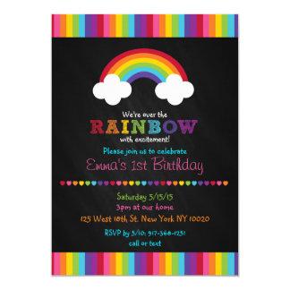 Over the Rainbow Chalkboard Birthday Invitations