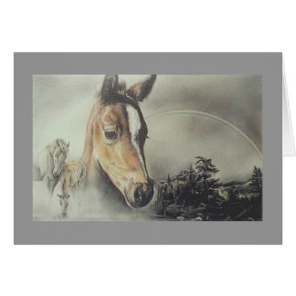"""Over the Rainbow"" Horse Card"