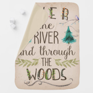 Over The River And Through The Woods Baby Blanket