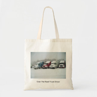 Over The Road Truck Driver Canvas Bag