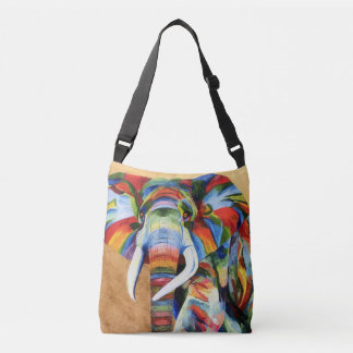 over the shoulder bag with  colourful Elephant