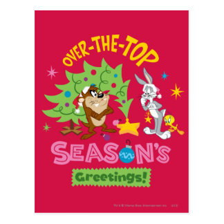 Over The Top Season's Greetings Postcards