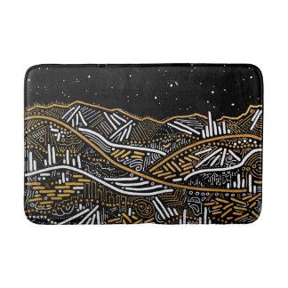 Over There Night Sky Landscape Bathmat