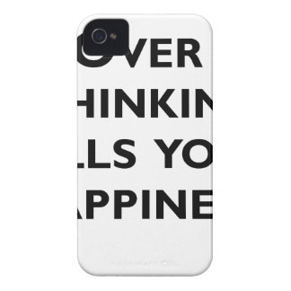 over thinking kills your happiness iPhone 4 Case-Mate case