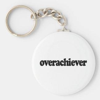 Overachiever Basic Round Button Key Ring
