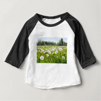 Overblown dandelions in green dutch meadow baby T-Shirt