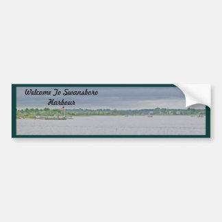Overcast Day on Swansboro Harbor Bumper Sticker