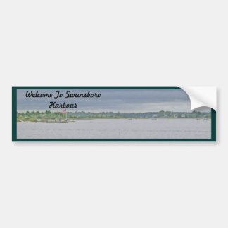 Overcast Day on Swansboro Harbour Bumper Sticker
