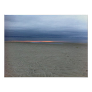 Overcast Sunset on Cape Cod Poster