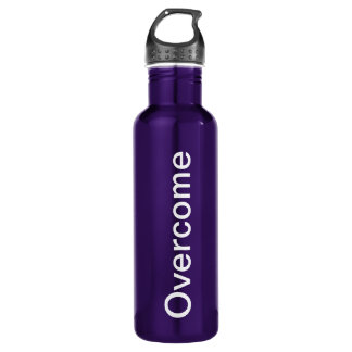 """Overcome"" 24 oz. Purple aluminum 710 Ml Water Bottle"