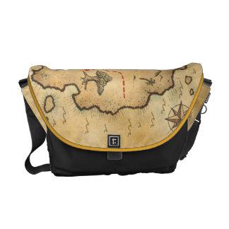 Overcome stock market map commuter bag