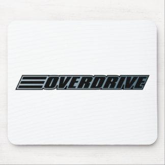 Overdrive - Race Car Automobile Slogan Mousepad
