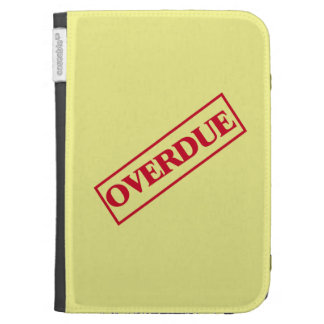 Overdue Stamp - Red Ink Yellow Background Kindle 3 Covers