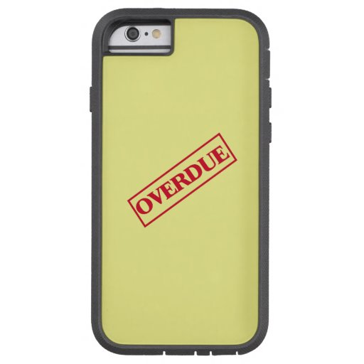 Overdue Stamp - Red Ink Yellow Background iPhone 6 Case