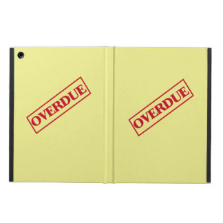 Overdue Stamp - Red Ink Yellow Background iPad Air Cases