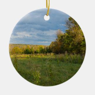 Overgrown Autumn Countryside Ceramic Ornament