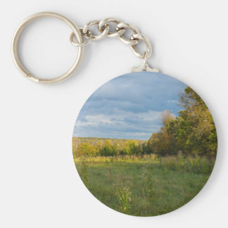 Overgrown Autumn Countryside Key Ring