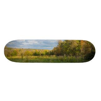 Overgrown Autumn Countryside Skateboard Deck