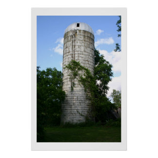 Overgrown Silo Poster