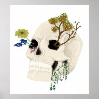 Overgrown Skull Poster