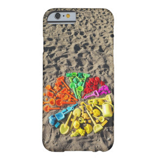 Overhead view of colourful children's plastic barely there iPhone 6 case