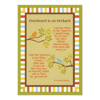 """""""Overheard in an Orchard"""" (Robin & Sparrow) Poem Card"""