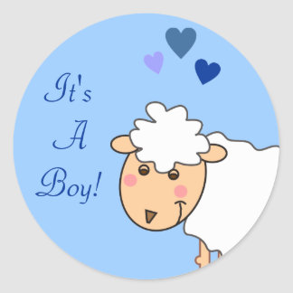 Overjoyed It's a Boy Baby Stickers