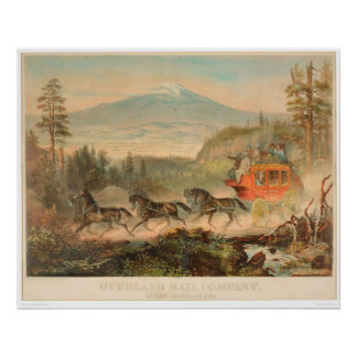 Overland Mail Company (1268A) Posters