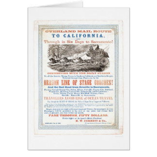 Overland Mail Route to CA. (1257A) - Restored Greeting Card