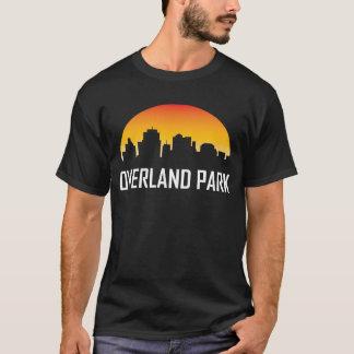 Overland Park Kansas Sunset Skyline T-Shirt