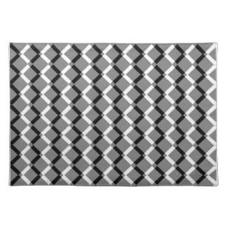 Overlapping Black and White Zigzag Lines Place Mats