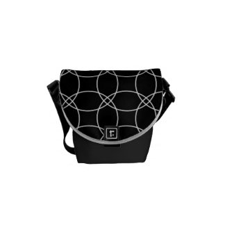 Overlapping Circles Messenger Bags